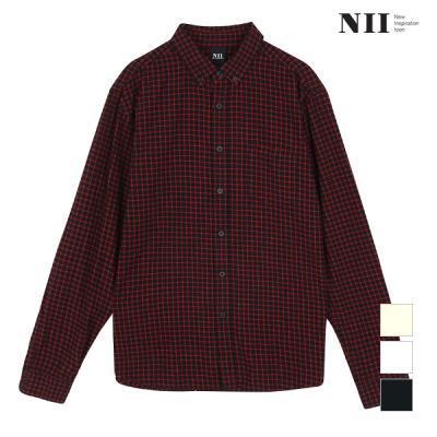 [NII] 남성 스몰 체크 셔츠_2NNXNLTW8341