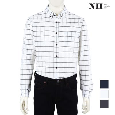 [NII] 남성 멜란지 체크 셔츠_2NNXNLSW8441