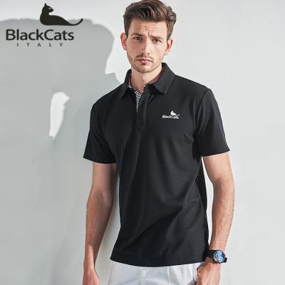 (Black CATS) 로고 베이직 폴로셔츠(BC182MTB)
