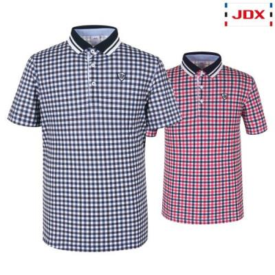 [JDX] 남성 3도깅엄체크프린트 요꼬에리티셔츠 2종 택1 (X2QMTSM01)