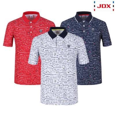 [JDX] 남성 로고플레이전판프린트 요꼬에리티셔츠 3종 택1 (X2QMTSM02)