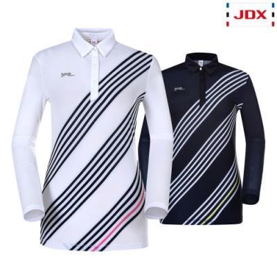 [JDX] 여성 앞사선프린트 냉감긴팔티셔츠 2종 택1 (X1QMTLW53)