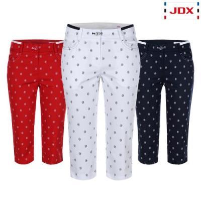 [JDX] 여성 도장프린트 패턴 7부 팬츠 3종 택1 (X2QMPTW55)