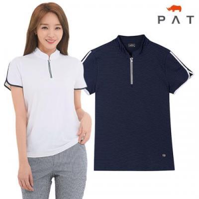 [PAT여성]냉감 카라포인트 반집업 티셔츠_1E45436
