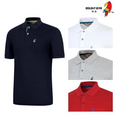 (남성)베이직솔리드 포켓 카라 반팔 티셔츠_MIM2TS90
