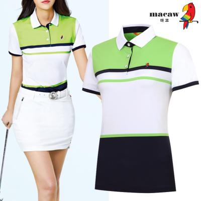 (여성)컬러블록카라 반팔 티셔츠_MIW2TS10