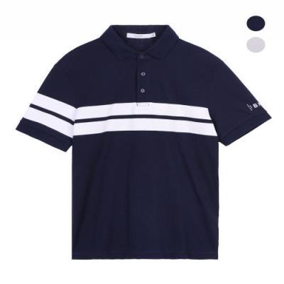 스트라이프 디테일 칼라 티셔츠 DSTS3111