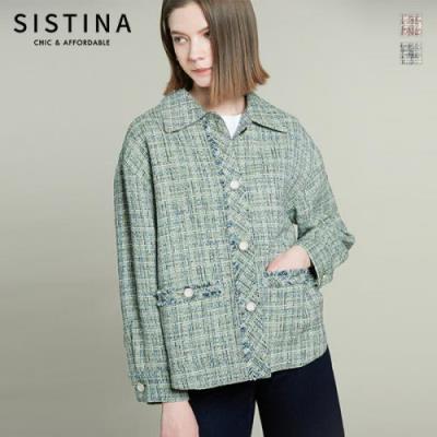 [시스티나]캐주얼 트위드 재킷_AWWJKL11040