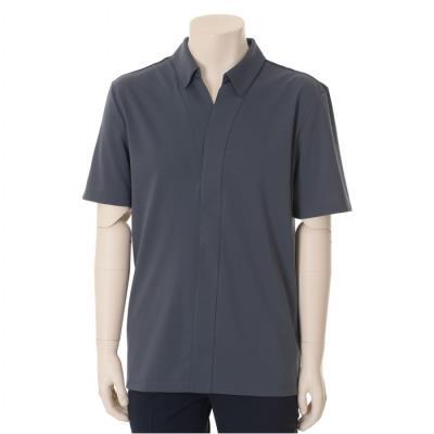 그레이 트임 카라 티셔츠 (WSU2KT73A) (WSU2KT73A)