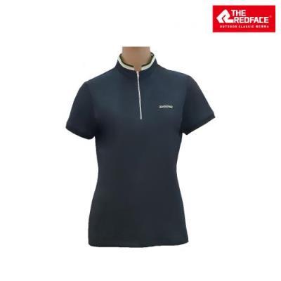[레드페이스 본사] 여성 자카드 쿨링 하프 짚 티셔츠 REWFTSM17058