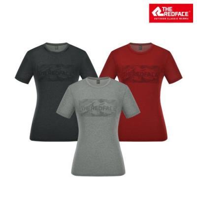 [레드페이스 본사] 여성 럭키 라운드 하프 우먼 티셔츠 REWFTSM19652