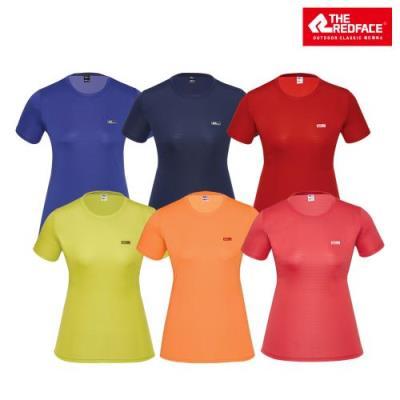 [레드페이스 본사] 여성 스퀘어 메쉬 라운드 하프 우먼 티셔츠 REWFTSM17656