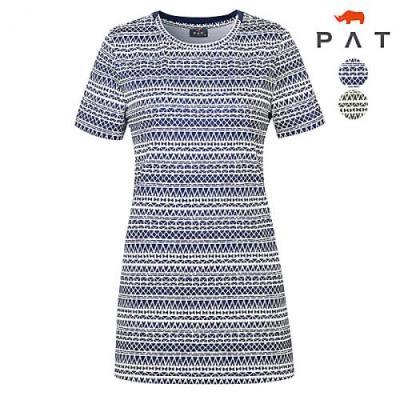 [PAT여성]기하학 프린트 롱 티셔츠_1D45336