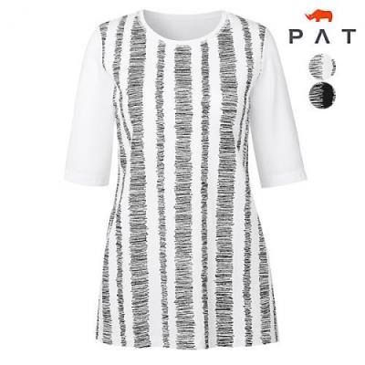 [PAT여성]지그재그 스티치 프린트 티셔츠_QC45302