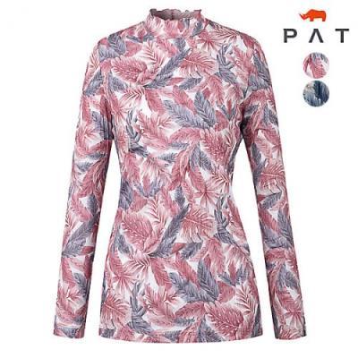 [PAT여성]메쉬 프린트 하이넥 티셔츠_1D45431
