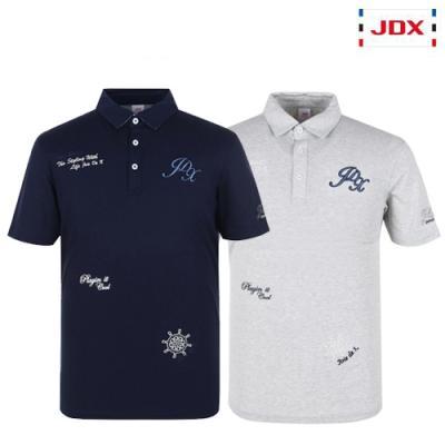 [JDX] 남성 멀티자수 그래픽 카라티셔츠 2종 택1 (X2QMTSM17)