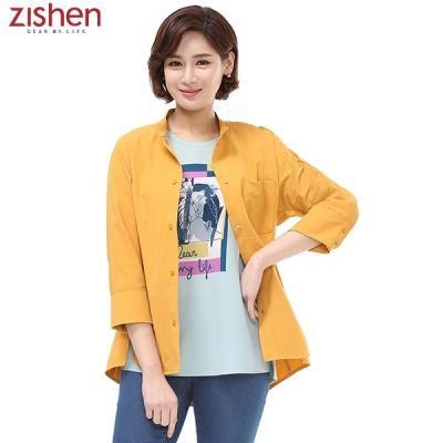 [지센]솔리드 스트레치 셔츠형 자켓-ZFCCA427