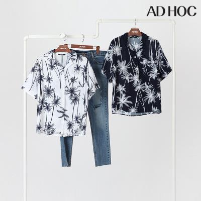 여성 모노 패턴 복고셔츠(HT7SS62)