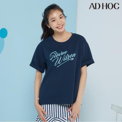여성 베이직 레터링 티셔츠(HV6STV8)
