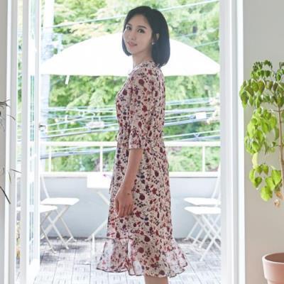 엄마옷 마담4060 데이플라워원피스-QOP105003-