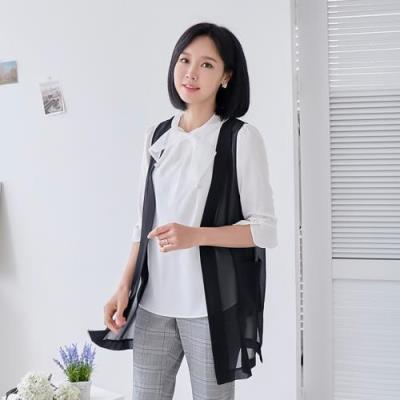 엄마옷 마담4060 조인시스루조끼-QVE105002-