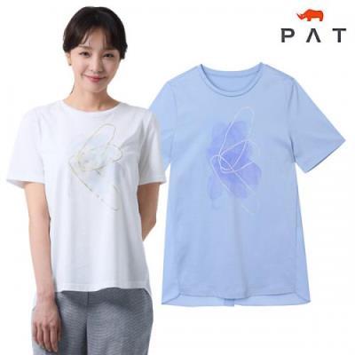[PAT여성][2020년]실켓 프린트 티셔츠_1G45361