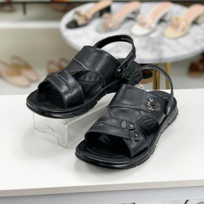 [당일발송]옴므 천연소가죽 쿠션 슬리퍼 샌들 3cm (H21MOJMS211)