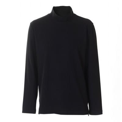 [바쏘옴므]블랙 폴리 스판 기모 반터틀 티셔츠 (WSV1MK05A)