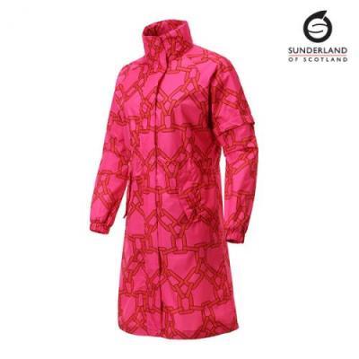 선덜랜드 여성 심실링 라글랑 사슬 비옷 - 16052RC21