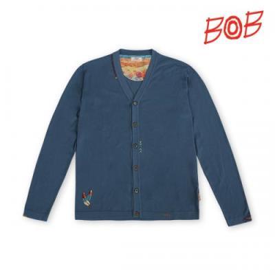 BOB/이태리 남성 배색프린트 가디건 - MBS1SC029_NA