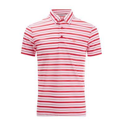 [임페리얼] 남성 언발란스 스트라이프 카라 티셔츠 핑크 (ISZ123073)