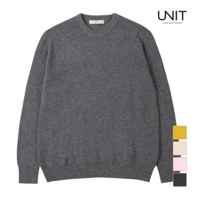 [UNIT] 남성 와플짜임 라운드넥 니트_UMD4-KR44N
