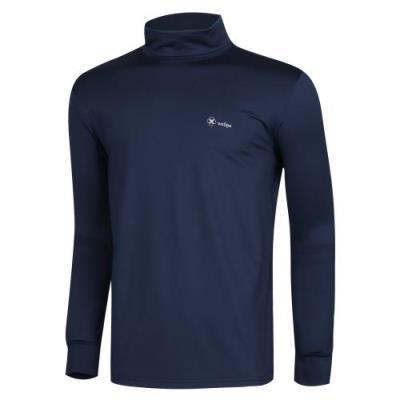 남성 목폴라 이너웨어 스판 긴팔 티셔츠 DW-TSA-Q008-네이비