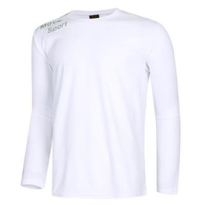 남성 스포티 라운드넥 스판 티셔츠 NA-TSA-Q001-흰색