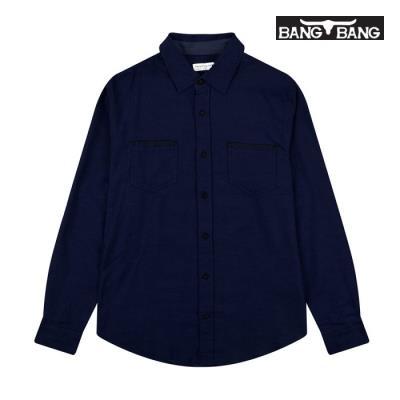 [뱅뱅] 여성 베이직 셔츠 네이비