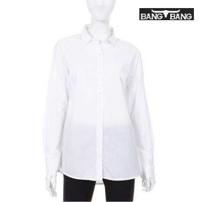 [뱅뱅] 여성 소매 포인트 셔츠 흰색