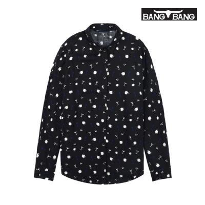 [뱅뱅] 여성 패턴 무늬 셔츠 검정