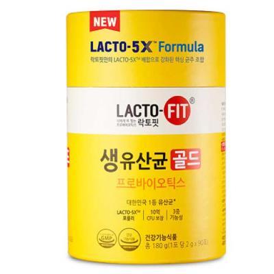 종근당 NEW LACTO-FIT 생유산균 골드 2gx90포