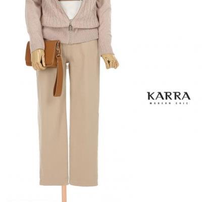 KARRA (77까지)피치겉기모밴딩면팬츠_KB1FPT023A