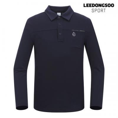 이동수 골프웨어 남성 긴팔 피케 티셔츠 네이비 H9DTS0140-N1