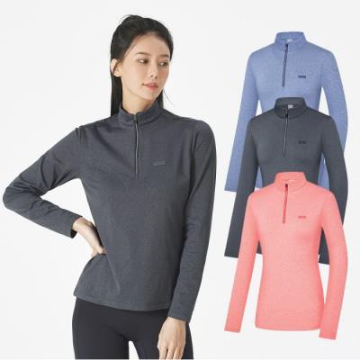 콜핑 여성 가을 멜란지 집업티셔츠 시리얼Ⅰ(여) KST4312W