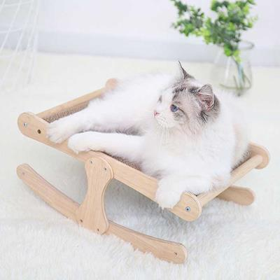 스트레스 해소 고양이 흔들 원목 스크래쳐CH1773941