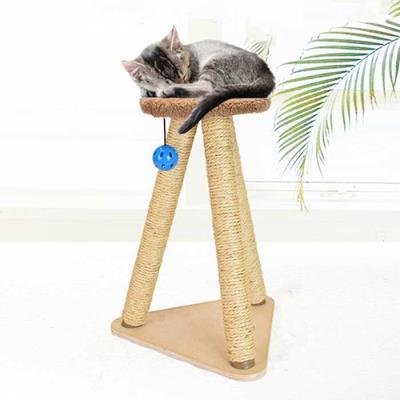 스트레스 해소 고양이 스탠딩 타워형 스크래쳐