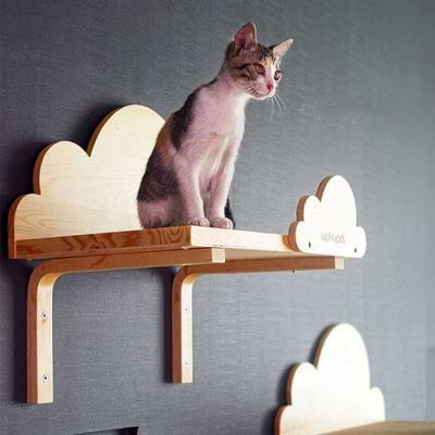 스트레스 해소 고양이 선반형 원목 스크래쳐