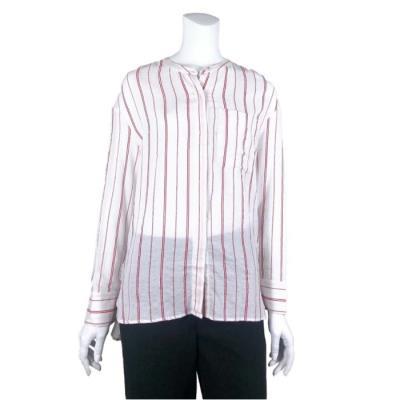 [카이아크만] 칼라 스트라이프 헨리넥 셔츠(KPASH632W0_RD)