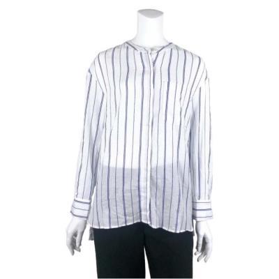 [카이아크만] 칼라 스트라이프 헨리넥 셔츠(KPASH632W0_BL)