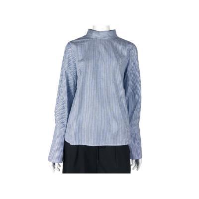 [카이아크만] 하이넥 카라 셔츠(KPASH627W0_NV)
