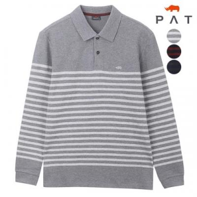 [PAT 남성]심플스트라이프 카라 티셔츠_1E75202
