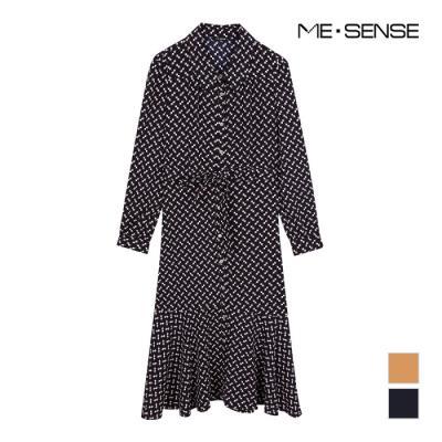 [미센스] 여성 패턴 셔츠형 원피스_MB12OPM201A